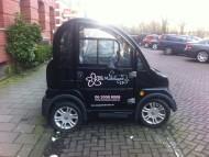 autobelettering brommobiel Amsterdam