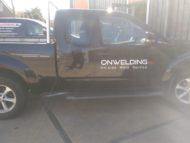 Autobelettering Nissan Navarra Amstelveen